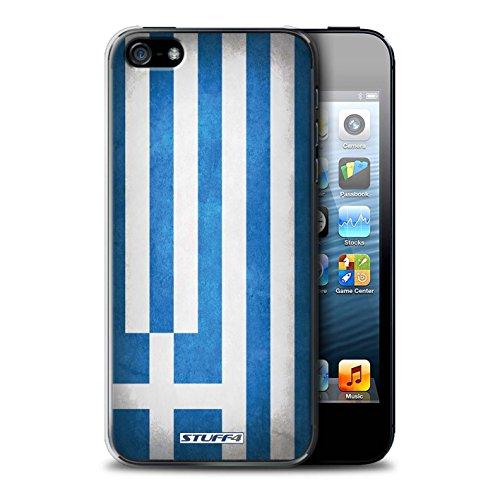 Stuff4® Hülle/Case für Apple iPhone 5/5S / Griechenland/Griechisch Muster/Flagge Kollektion