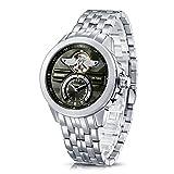 Time100 NEU Herren-Automatikuhr Analog mechanische Armbanduhr Edelstahl Runde Grün #W60049G.02A