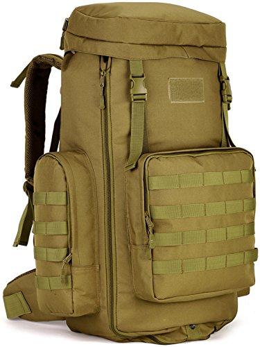 DCCN Tactical Rucksack 70-85L MOLLE Military Trekking Rucksäcke verstellbar groß Kapazität Wandern Rucksack Reisetasche mit Regencape