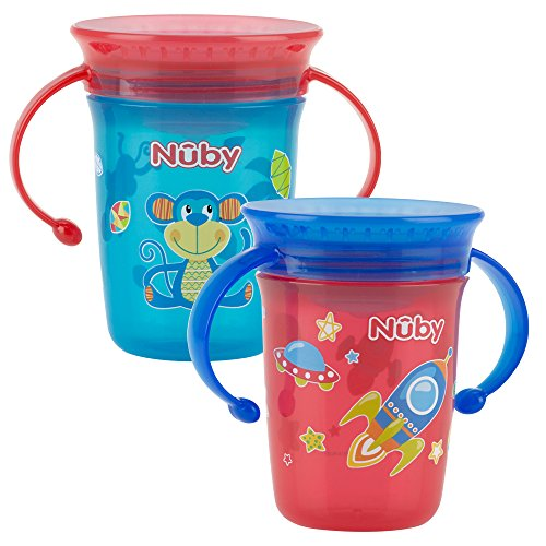 Nuby 360 Sippy Cup Pink Pack Of 2