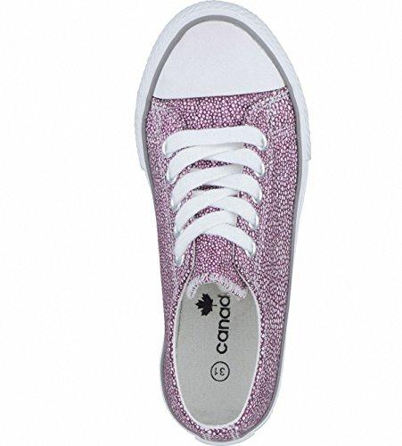 Canadians modische Mädchen Textil Sneakers Low red, Sneaker Laufsohle, 3338170/28 Rot