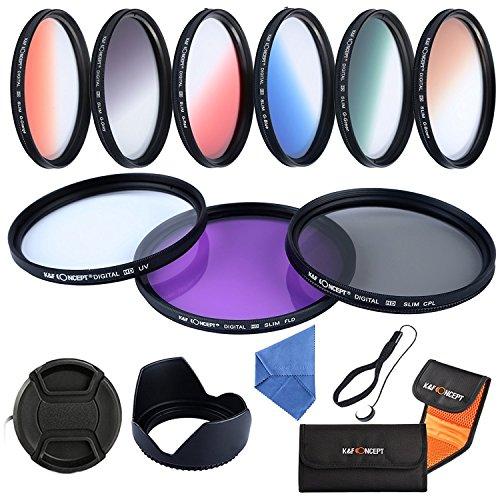 K&F Objektiv Filterset 67mm UV Schutzfilter 67mm CPL Polfilter Verlaufsfilterset + Mikrofaser...