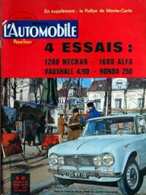 AUTOMOBILE (L') [No 202] du 01/02/1963