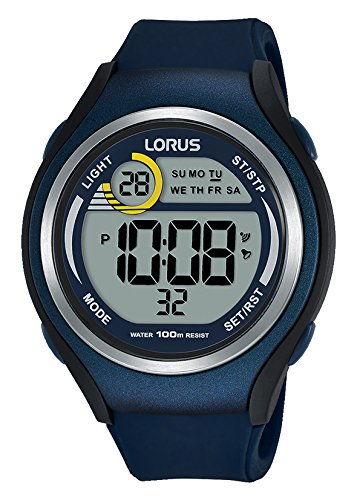 Lorus Unisex Digital Quartz Watch with Silicone Strap R2375LX9