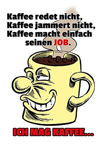 ich mag Kaffee blechschild, lustig, comic, spruchschild