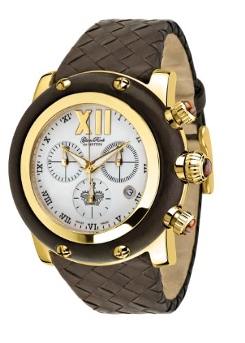Glam Rock Unisex GR10170 Miami Collection Chronograph Brown Leather Weave Watch