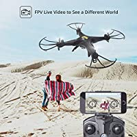 Holy Stone FPV Drone with 720P HD Live Video Wifi Camera 2.4GHz 4CH 6-Axis Gyro RC Quadcopter with Altitude Hold, Gravity Sensor and Headless Mode Function RTF helicopter for Kids and Beginners