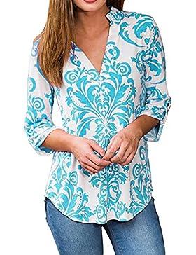 SHOBDW Blusas de mujeres de otoñ