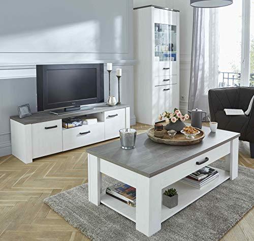 Miroytengo Pack Muebles salón Color Claro Mesa TV Mesa Centro Vitrina mobiliario Comedor diseño Moderno