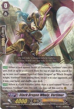 Cardfight!! Vanguard TCG - Black Dragon Whelp, Vortimer Vortimer Vortimer (EB03/015EN) - Cavalry of Black Steel by Bushiroad Inc. | Stocker  017a15
