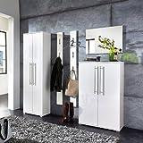 Garderoben Set 5-tlg »ELEGANCE« Hochglanz weiß