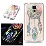 E-Mandala Samsung Galaxy S4 Hülle Ultra Dünn Slim Durchsichtig Silikon Schutzhülle Handy Tasche Etui Handyhülle Transparent mit Muster - Traumfänger Dreamcatcher Campanula