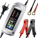 INTEY Chargeur de batterie, 6/12 V 5A, Mainteneur De Batterie, Chargeur de batterie pour motos et voiture