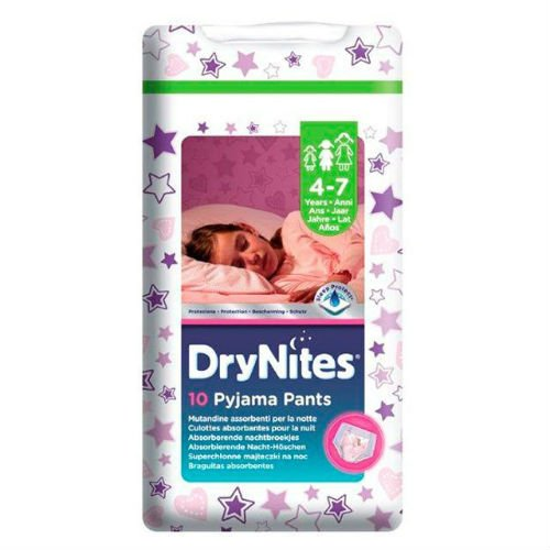 Huggies DryNites per bambina, 7 anni, 10 per pacco da 4