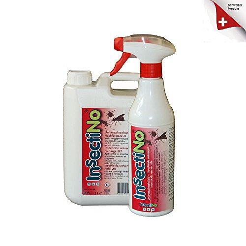 INSECTINO Universal Insektizid Bundle 1 x 2 ltr Nachfüllkanister/ 1 x 500 ml Handsprühere Universal Bundle