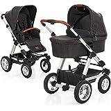 ABC Design Viper 4 - Kombikinderwagen mit Lufträdern - Komplett-Set 2in1 - inkl. Babywanne & Sportwagen