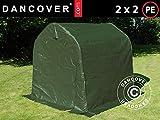 Dancover Lagerzelt Zeltgarage Garagenzelt PRO 2x2x2m PE, Grün