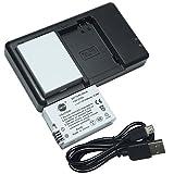 DSTE 2PCS LP-E8(2100mAh/7.4V) Batterie Ladegerät Kit für Canon EOS 550D 600D 650D 700D Kiss X4 Kiss X5 Kiss X6i X7i Rebel T2i T3i T4i T5i Digital Kamera