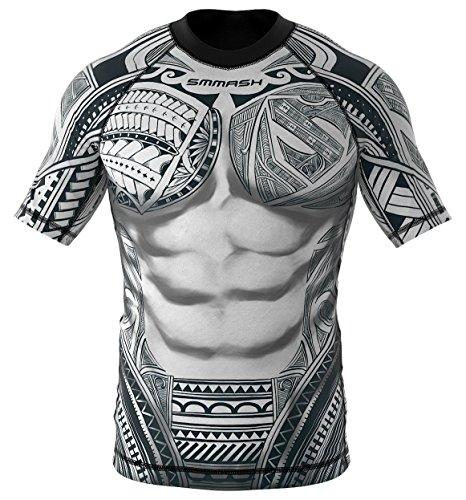 SMMASH Rashguard Maori Kurzarm MMA BJJ UFC Kampfsport (XL)