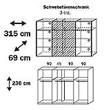 Kleiderschrank »BELUGA PLUS« 315cm alpinweiß, Hochglanz weiß, Spiegel 236cm