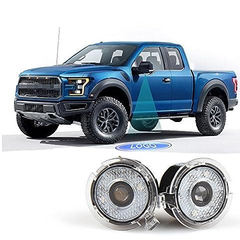 Car Rover Latéraux Miroir LED Lampe Projecteur Ombre pour Ford -- 1 Paire