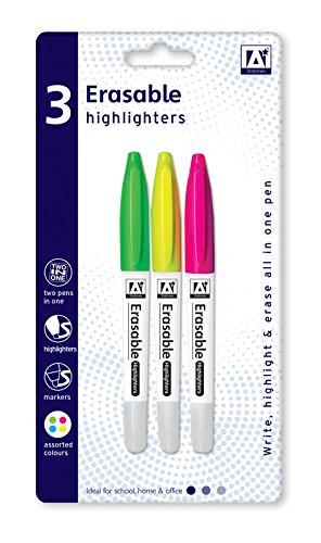 Anker International, Schreibwaren, 3löschbarer Textmarker, farblich sortiert