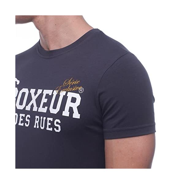 BOXEUR DES RUES - T-Shirt Girocollo Antracite con Maxi Stampa Frontale, Uomo 4 spesavip