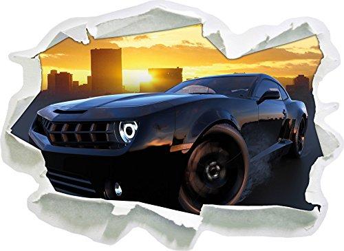 chevrolet-tramonto-nero-carta-3d-autoadesivo-della-parete-formato-62x45-cm-decorazione-della-parete-