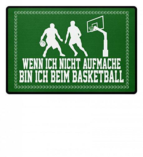 Hochwertige Fußmatte - ...bin ich beim Basketball - Geschenk Basketballspieler-in Basketballer-in Basketball-Fan