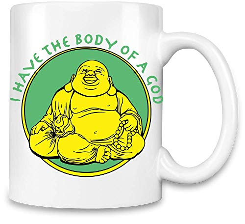 Frauen Art Ich Habe den Körper eines Gottes - I Have The Body of A God Unique Coffee Mug | 11Oz Ceramic Cup| The Best Way to Surprise Everyone On Your Special Day| Custom Mugs by