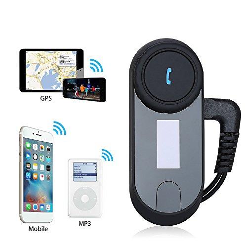2 Einheiten mit hartem Kabel Motorrad Intercom mit Bluetooth bis zu 3 Reiter GPS und 800M Reichweite FM-Radio