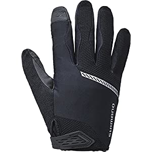 SHIMANO Original Long Gloves Men Black 2018 Fahrradhandschuhe