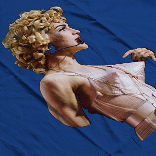 Madonna In Pink Cone Bra Corset Blonde Ambition Tour 1990 Women's Sweatshirt Royal Blue