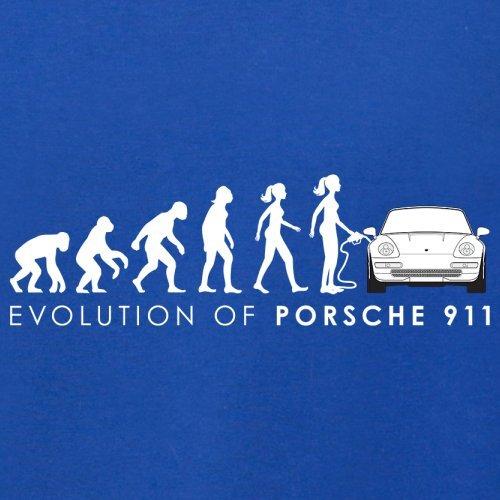 Evolution of Woman - 911 Fahrer - Herren T-Shirt - 13 Farben Royalblau