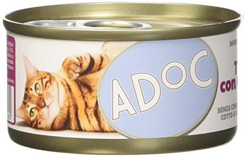 Adoc Naturale Tonnetto con Gamberetti per gatti adulti, confezione da 24 pezzi