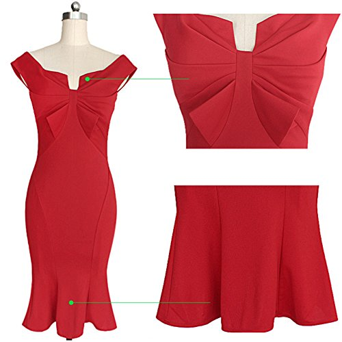 KingField - Robe - Crayon - Femme M Rouge - Rouge