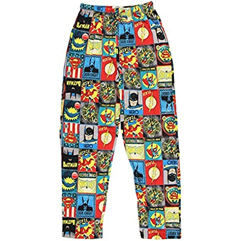 DC Comics Liga de la Justicia bloques Knit Graphic Sleep Lounge pantalones