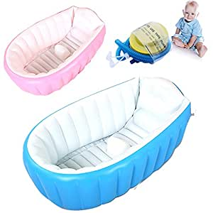 suyi inflatable baby bathing tubs and seats portable bathtub kid toddler infant newborn. Black Bedroom Furniture Sets. Home Design Ideas