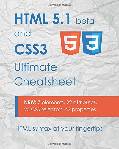 Pdf Html 5 1 Css3 Ultimate Cheatsheet Html Syntax At Your