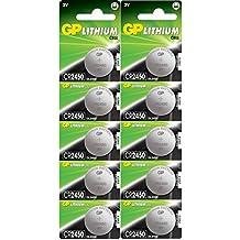 2x GP pilas botón de litio CR2450pilas de botón (Pack de 5)