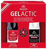 alessandro Gelactic Nail Set, Red, 1er Pack (2 x 10 ml)