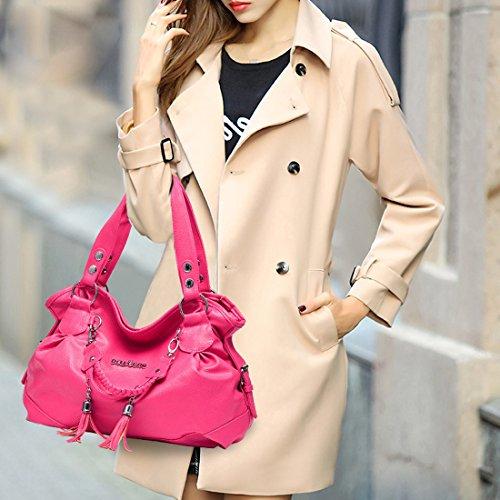 YYW Women Handbag, Borsa a mano donna Pink