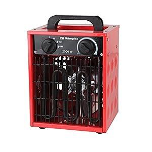 Orbegozo FHI 2000 – Calefactor cerámico profesional, IP-44, selectores rotativos, función ventilador, apagado automático…