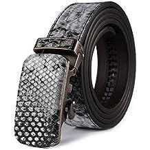 Peau de Serpent Ceinture pour Homme en Cuir Boucle Automatique,Autolock 4d1712d8207