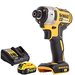 Dewalt DCF887N 18V Brushless Impact Driver with 1 x 5Ah DCB184 Battery + DCB115 Charger (B07HFW6JN8) | Amazon price tracker / tracking, Amazon price history charts, Amazon price watches, Amazon price drop alerts