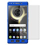 WPRIE Full Body Front and Back 360 Protective Cover with Tempered Glass for Lenovo K8 Plus (Blue)