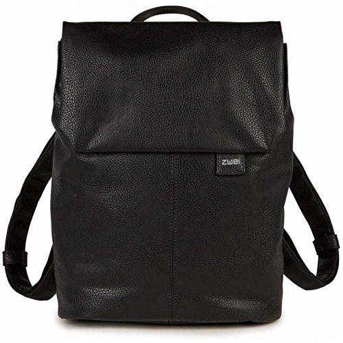 Zwei Mademoiselle MR13 Rucksack 37 cm, Noir (Schwarz), Breite ca. 27 cm, Höhe ca. 36 cm, Tiefe ca. 11 cm - Leder Zwei Tasche Tragen