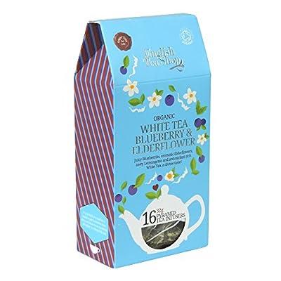 English Tea Shop Thé Blanc Fleur de Sureau Myrtille Bio 16 Sachets Pyramides 32 g
