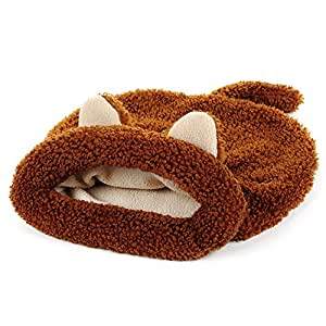 Bwiv Pet Sacco a Pelo del Gatto Pocket Tunnel Bed dell'animale Domestico Cuscino Inverno Estate Caldo Invernale A