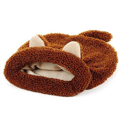 Bwiv Pet Sacco a Pelo del Gatto Pocket Tunnel Bed